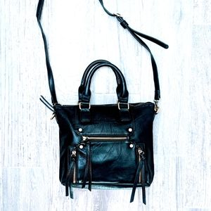 Anthropologie Antik Kraft Black Purse Faux Leather